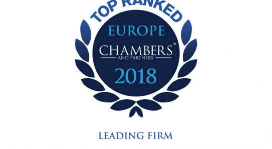 "<span class=""equity"">EQUITY</span> got high marks in the Chambers Europe 2018 ranking!"